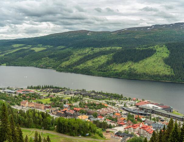 Utsikt över Åre by