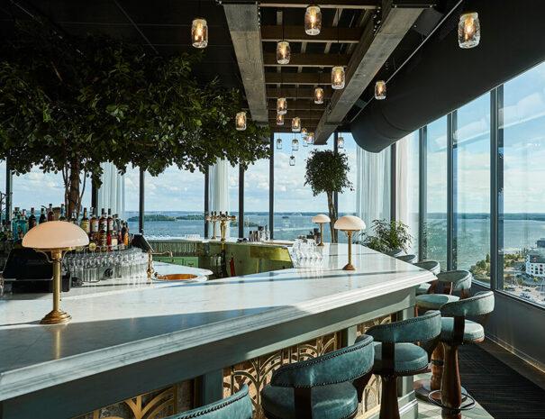 Bar med utsikt på Steam hotel