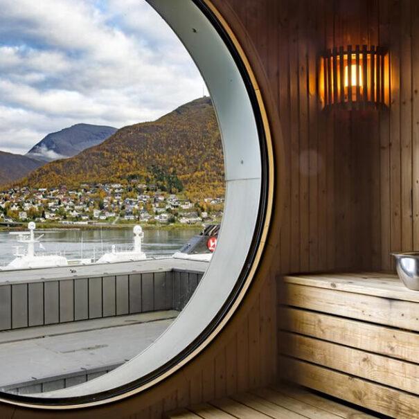 Bastu på Radisson Blu i Tromsö