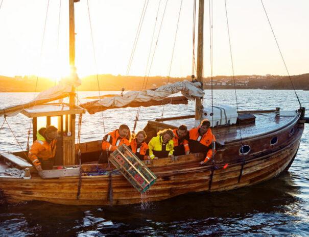 Aktivitet krabbfiske i Grebbestad