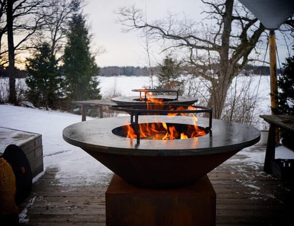 Kickoff utomhuslunch med grill på Marholmen