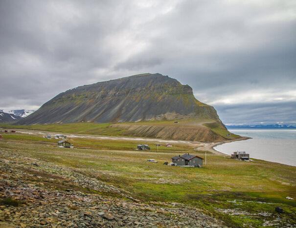 fantastisk miljö på Svalbard