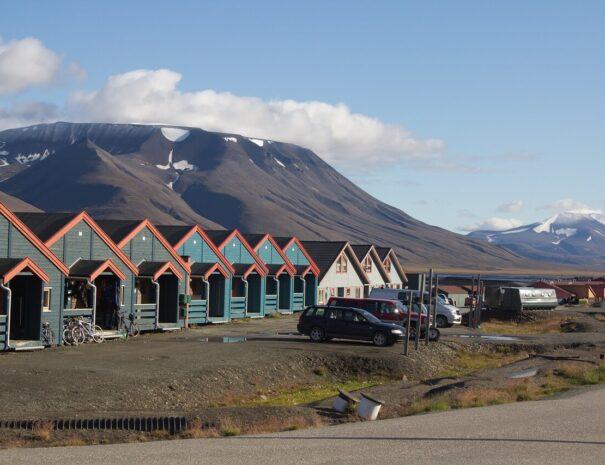 Hus på Svalbard