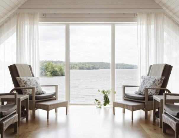 Rum med utsikt på Krusenberg Herrgård