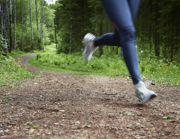 Bra joggingspår kring Selma Spa