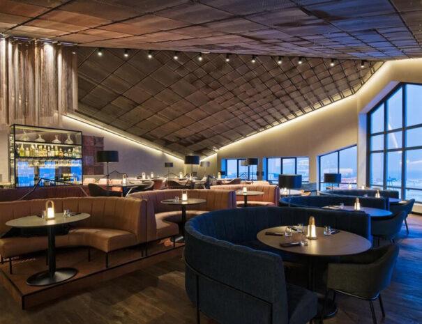 Lounge för möten på hotell Radisson på Svalbard