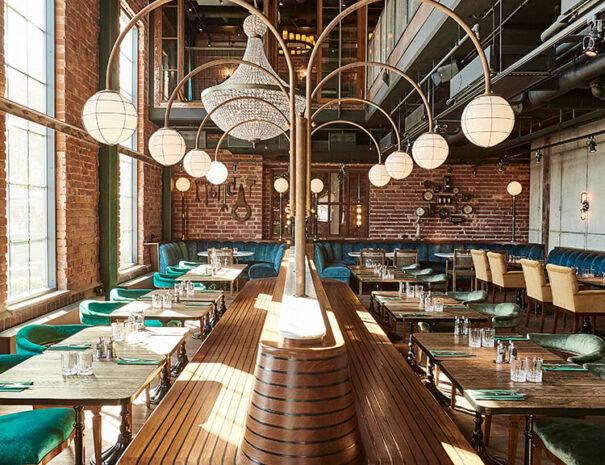 Restaurang för större sällskap på Steam hotel