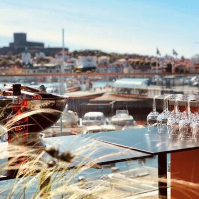 Vy från Marstrands havshotell