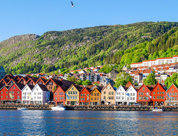 Vackra Bergen i Norge